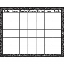 TCR7718 - Black/White Crazy Circles Blank Calendar Chart in Calendars