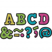 TCR77190 - Chalkboard Brights Bold Block 2In Magnetic Letters in Magnetic Letters