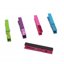 TCR77237 - Glitter Magnetic Clothespins in Clips