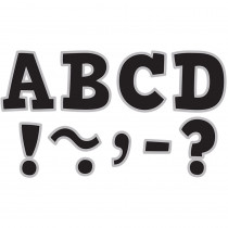 TCR77266 - Black & Silver Bold Block 3In Magnetic Letters in Magnetic Letters