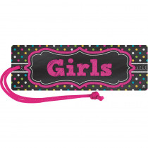 TCR77277 - Chalkboard Brights Magnetic Girls Pass in Hall Passes