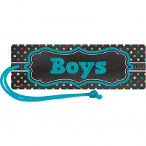 TCR77278 - Chalkboard Brights Magnetic Boys Pass in Hall Passes