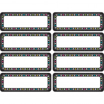 TCR77319 - Chalkboard Brights Mini Labels Clingy Thingies in Organization