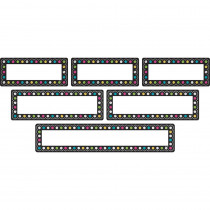 TCR77321 - Chalkboard Brights Labels Clingy Thingies in Name Plates