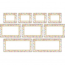 TCR77325 - Clingy Thingies Confetti Labels in Name Plates