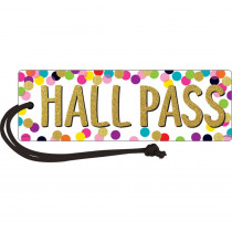 TCR77394 - Confetti Magnetic Hall Pass in Hall Passes