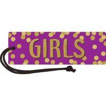 TCR77396 - Confetti Magnetic Girls Pass in Hall Passes