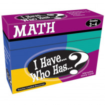 TCR7819 - I Have Who Has Math Games Gr 3-4 in Math