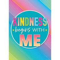 TCR7939 - Kindness Begins With Me Posters Colorful Vibes in Classroom Theme