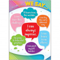 TCR7940 - In Our Class We Say Posters Colorful Vibes in Classroom Theme
