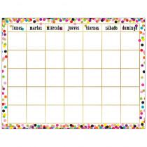 Confetti Spanish Calendar Chart - TCR7949 | Teacher Created Resources | Calendars