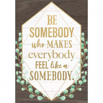 """Be Somebody Who Makes Everybody Feel like a Somebody Positive Poster, 13-3/8 x 19"""" - TCR7978 