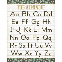 "Eucalyptus The Alphabet Chart, 17 x 22"" - TCR7983 | Teacher Created Resources | Language Arts"""
