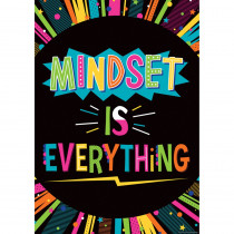 "Mindset Is Everything Positive Poster, 13-3/8 x 19"" - TCR7989 