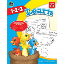 TCR8001 - 1 2 3 Learn Age 2-3 in Language Arts