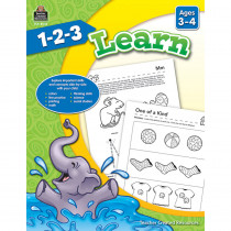 TCR8002 - 1 2 3 Learn Age 3-4 in Language Arts