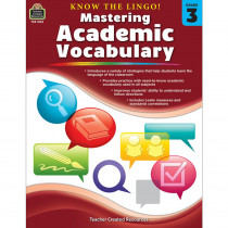 TCR8133 - Know The Lingo Gr 3 Mastering Academic Vocabulary in Vocabulary Skills