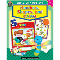 TCR8214 - Write-On/Wipe-Off Numbers Shapes & Colors in Resources