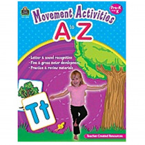 TCR8757 - Movement Activities A To Z in Letter Recognition