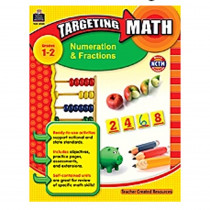 TCR8989 - Gr 1-2 Targeting Math Numeration & Fractions in Fractions & Decimals