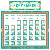 TCR9541 - Shabby Chic Calendar Set in Classroom Theme