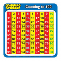 TF-7005 - Counting To 100 4In Learning Stickers 20 Per Pack in Math