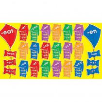 TF-8089 - Word Families Kites Mini Bulletin Board Set in Language Arts