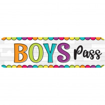 "DIY Dots Boys Plastic Pass, 2.25 x 7.75"" - TOP10173 