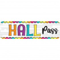 "DIY Dots Hall Plastic Pass, 2.25 x 7.75"" - TOP10175 