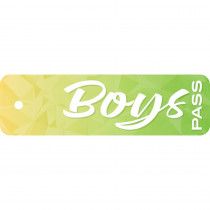 "Geo Abstract Boys Pass, Plastic, 2 1/4 x 7 3/4"" - TOP10176 