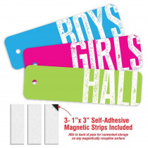 Big Type Design- 3 Plastic Passes in each pack: 1-Boy, 1- Girl, 1- Hall - TOP10187 | Top Notch Teacher Products | Hall Passes