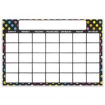 "Magnetic Write & Wipe Calendar Neon Chalk, 12 x 18"" - TOP10604 | Top Notch Teacher Products | Calendars"""