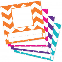 Chevron Assorted Picture Plates, Pack of 32 - TOP2003 | Top Notch Teacher Products | Name Plates