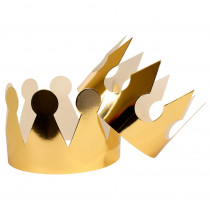 Crowns Gold Metallic, Pack of 24 - TOP22900 | Top Notch Teacher Products | Crowns