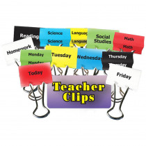 TOP2304 - Classes & Days Of Week Teacher Clips 1-1/4In 12Pk in Clips