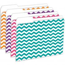 TOP3344 - Chevron File Folders 12 Pk in Folders