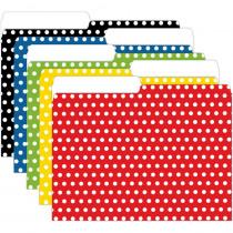 TOP3376 - Mini File Folders Assorted Polka Dots in Folders