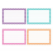 TOP3551 - Border Index Cards 4 X 6 Lined Chevron in Index Cards