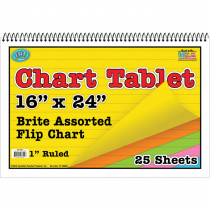 TOP3841 - Chart Tablets 16X24 Assorted Ruled in Chart Tablets