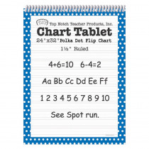 TOP3846 - Polka Dot Chart Tablet Blue 1.5 Ruled in Chart Tablets