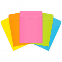 TOP4015 - Brite Pockets Peel & Stick 375/Box Brite Assorted in Library Cards