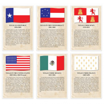 Historic Flags of Texas, 6-Piece Set - TOP404 | Top Notch Teacher Products | History