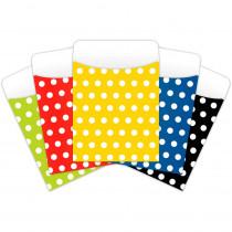 TOP6039 - Brite Pockets Asst Polka Dots 25Bag Peel & Stick in Folders