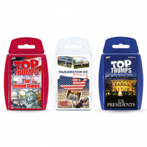 3-Game Bundle, Red, White, & Blue, US States, US Presidents & Washington DC - TPU003873 | Top Trumps | Card Games
