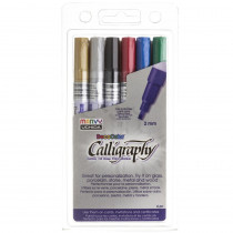 Calligraphy Paint Marker Set, 6 Colors - UCH1256A | Uchida Of America, Corp | Markers