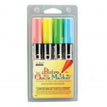 UCH4804A - Bistro Chalk Markers Brd Tip 4 Clr Set Fluorescent Red Blu Grn Ylw in Markers