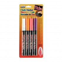 UCH4824H - Bistro Chalk Markers Fine Tip 4 Clr Set Wht Fluor Violet Org Red in Markers