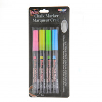 Bistro Chalk Markers, Extra Fine Tip 4-Color Set, Fluorescent Pink, Blue, Green, Yellow - UCH4854A | Uchida Of America, Corp | Markers