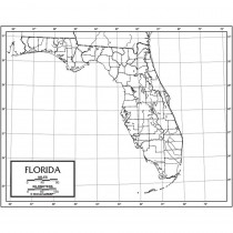 UNI21231 - Outline Map Laminated Florida in Maps & Map Skills
