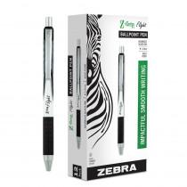Flight Retractable Ballpoint Pens, Black, Dozen - ZEB21910 | Zebra Pen Corporation | Pens